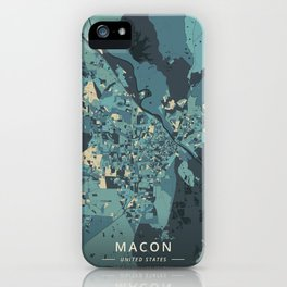 Macon, United States - Cream Blue iPhone Case