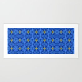 Divine Diamond Morning Glory Blues Art Print