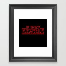Kirby Krackle - Upside Down Logo Framed Art Print