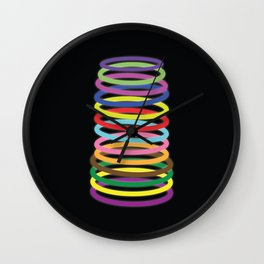 Glowing Rings Wall Clock