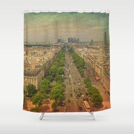 Avenue De Champs Elysees in Paris Shower Curtain