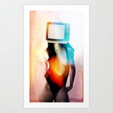 SEX ON TV - BLACKY by ZZGLAM Art Print