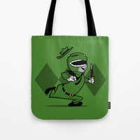power ranger Tote Bags featuring power ranger smith. by dann matthews
