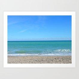 Winter day at the beach Art Print