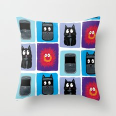 Don't Let Your BlackBerry Turn into Exploding Cats.  Throw Pillow