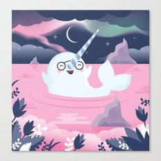 Norman the Near-Sighted Narwhal Canvas Print