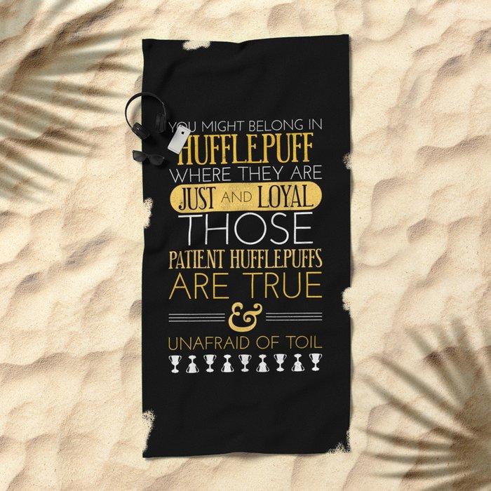 Hufflepuff Beach Towel