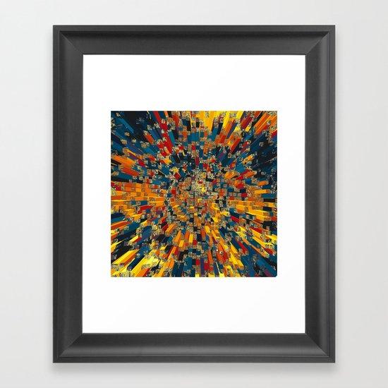 Flying prisms Framed Art Print