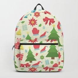 GEOMETRIC CHRISTMAS VECTOR PATTERN Backpack