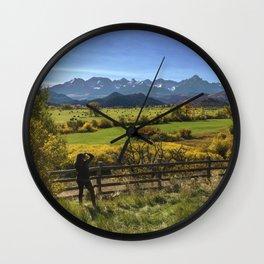 Mt. Sneffels Vista Wall Clock