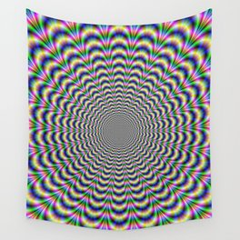 Neon Pulse Wall Tapestry