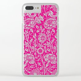 "William Morris Floral Pattern | ""Pink and Rose"" in Hot Pink and White 