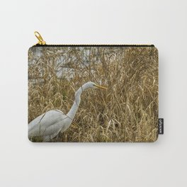 Great Egret Among the Rushes Carry-All Pouch