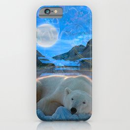 Just Chilling and Dreaming (Polar Bear) iPhone Case
