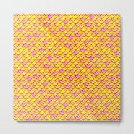 Yellow Pink Scales Metal Print