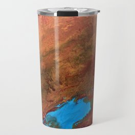 Arizona Agate Slab Travel Mug