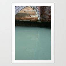 Venice Bridge Reflection Art Print