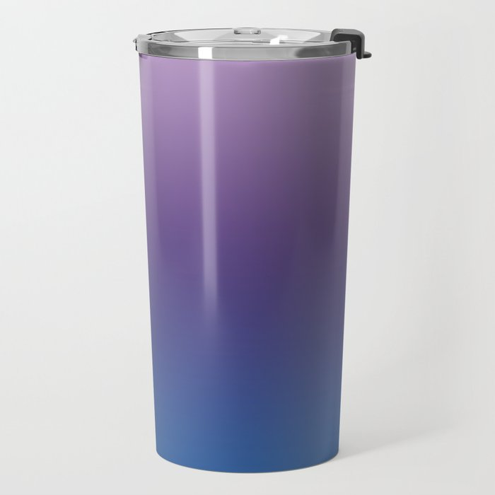 Ultra Violet Blue Lilac Ombre Gradient Pattern Travel Mug