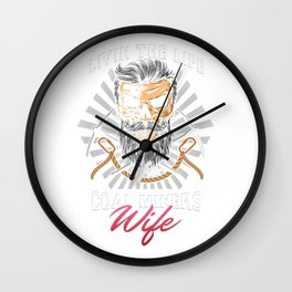Coal Mining Mineral Miners Rocks Livin' A Life Of A Coal Miners Wife Gift Wall Clock