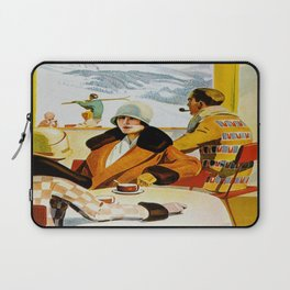 Vintage Wengen Switzerland Travel Laptop Sleeve
