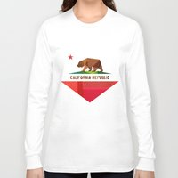bear Long Sleeve T-shirts featuring California by Fimbis