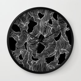 Inverted Reticulate Wall Clock