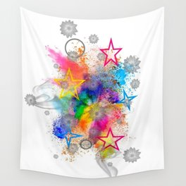 Color blobs by Nico Bielow Wall Tapestry