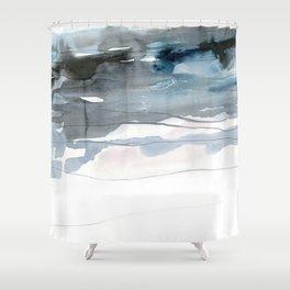 dissolving blues 2 Shower Curtain