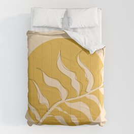 Yellow Leaves Comforters