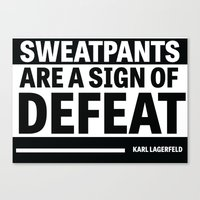 karl lagerfeld Canvas Prints featuring Karl Lagerfeld Quote by Thompson ET Julienne