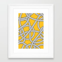 Nautical Yellow Rope Pattern Repeat Framed Art Print