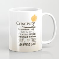 creativity Mugs featuring Creativity by TheNinjaTJ