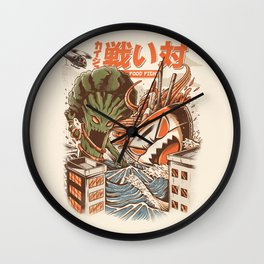 Kaiju Food Fight Wall Clock