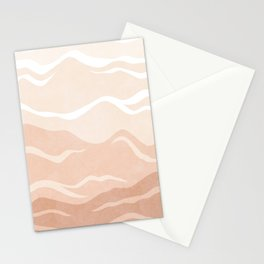 Blush Mountain Abstract Stationery Cards