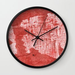 Indian red blurred wash drawing design Wall Clock