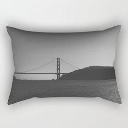 Golden Gate From The Sea (bw) Rectangular Pillow