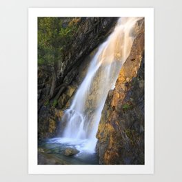 Falls at Holland Lake Art Print