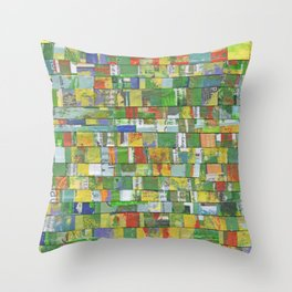 Colorburst Collage Throw Pillow