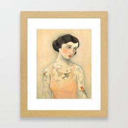 Tatooed Lady Rara Avis Gerahmter Kunstdruck