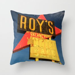Roy's Vacancy Throw Pillow
