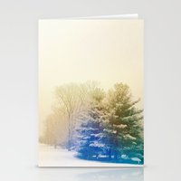 snow Stationery Cards featuring Snow by Olivia Joy StClaire