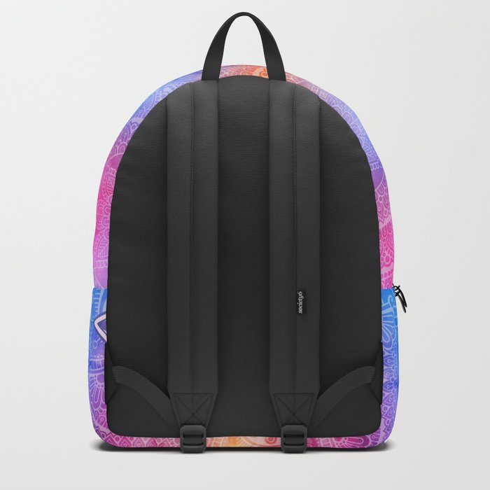 Modern Abstract Mandala Flower Backpack
