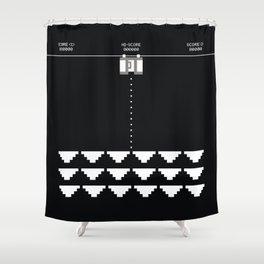Briefs Invaders Shower Curtain
