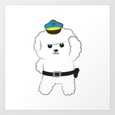 Animal police - Bichon Frisé Art Print
