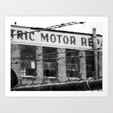 Abandoned Building in Detroit Art Print