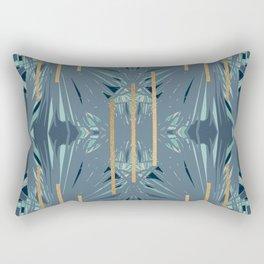 Tropical Art Deco 1.1a Blue, Green, Gold Rectangular Pillow