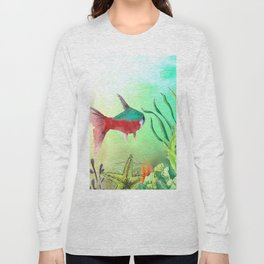 Underwater World **just keep swimming Long Sleeve T-shirt