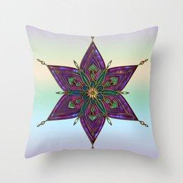 Crest of Kali Throw Pillow