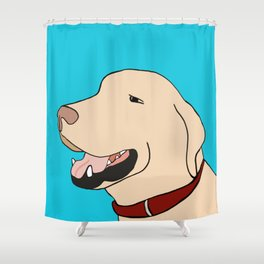 Sage A Yellow Labrador Shower Curtain