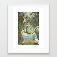 queen Framed Art Prints featuring Queen  by Nicholas Lockyer